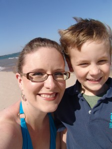 Our first 2009 trip to the beach